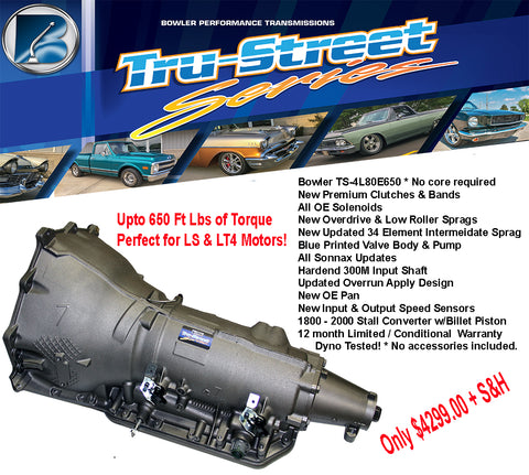 Bowler Tru-Street 4L80E Performance Transmission & Converter Only (Up to 650 lb-ft of Torque)
