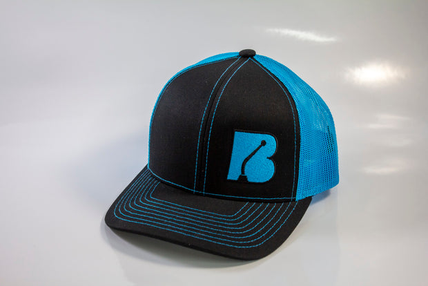 Bowler Trucker Mesh Hat Neon Blue/Black
