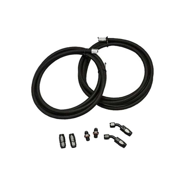 "Braided Cooler Line Kit (45 Degree Ends, 1/4"" NSP Fittings)"