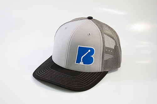 Bowler Trucker Mesh Hat Grey/Charcoal/Black