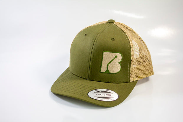 Bowler Trucker Mesh Hat Olive Green/Tan