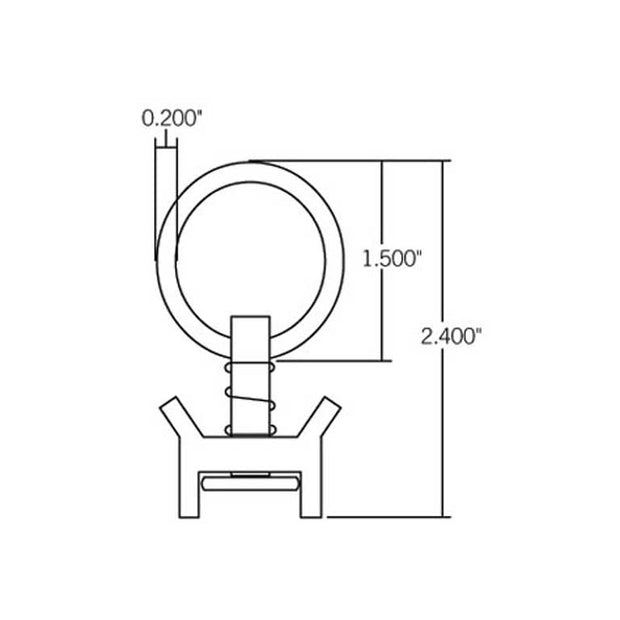 Single Stud Tie-Down Ring VT-1000