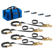 Super Pack Tie Down Kit w/ Integrated Ratchet Axle Straps (Select Color)