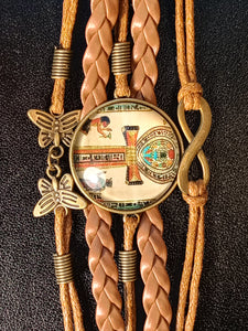 ANKH OF LIFE BRAIDED BRACELET