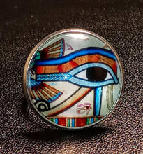 Load image into Gallery viewer, EYE OF HERU PAPYRUS RING