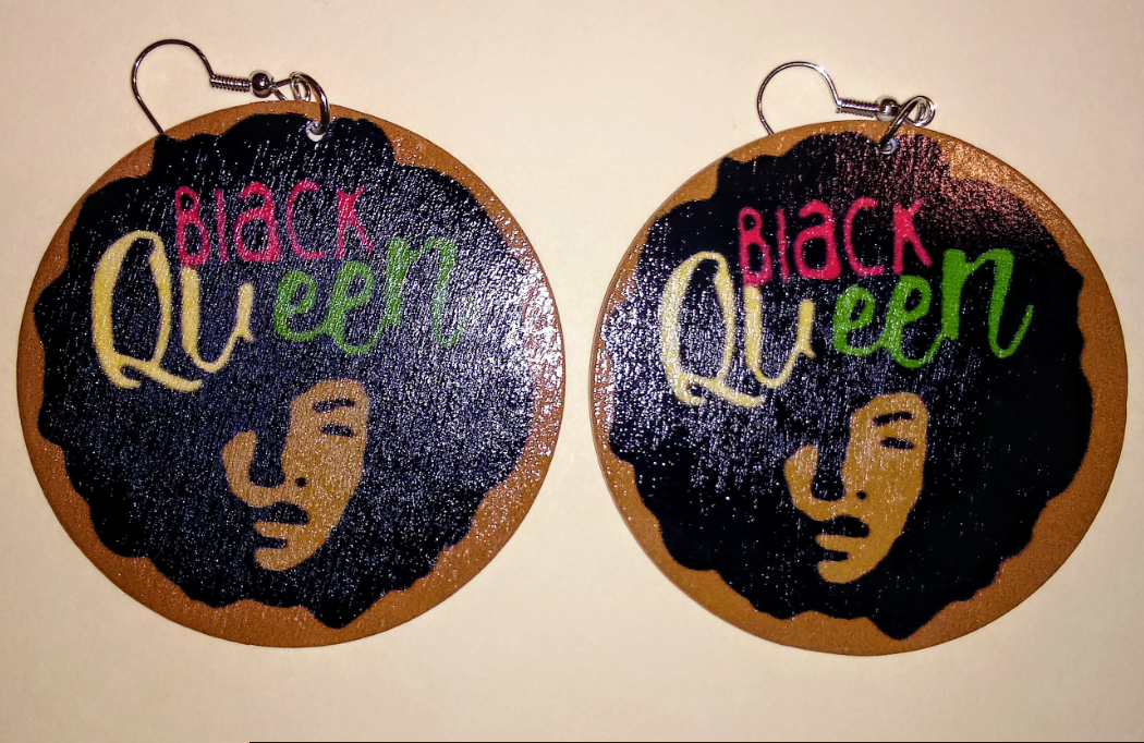 BLACK QUEEN EARRINGS