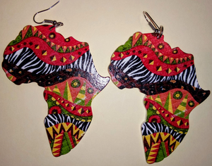 MOTHERLAND WOODEN EARRINGS(TRIBAL EDITION)