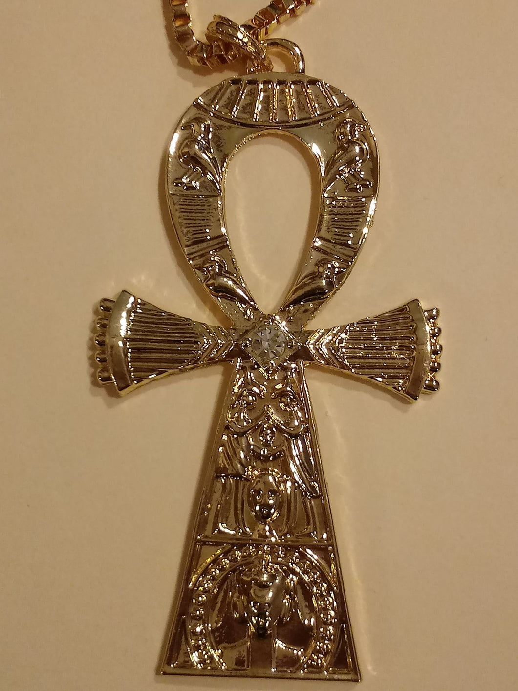 KEY OF ETERNAL LIFE-GOLD ANKH NECKLACE
