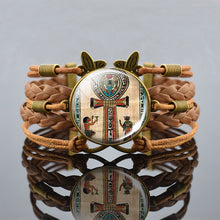 Load image into Gallery viewer, ANKH OF LIFE BRAIDED BRACELET