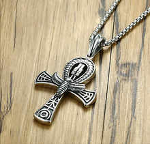 Load image into Gallery viewer, Ancient Egyptian Power Ankh Necklace