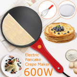 3Pcs/Set Kitchen Machine Red 600W Electric Pancake Baking Crepe Maker Pan Pizza