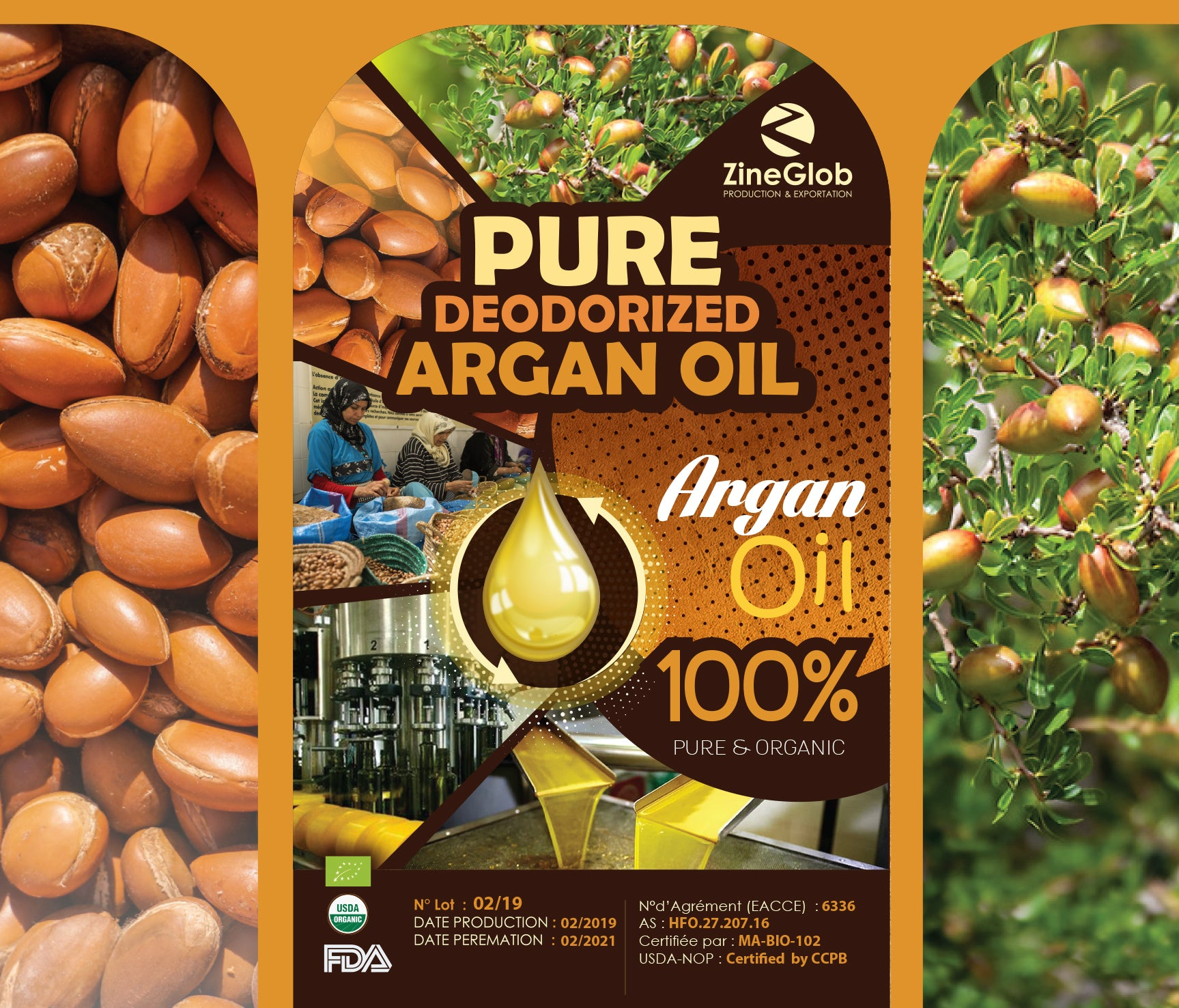 Unroasted Argan oil
