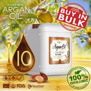 PURE COSMETIC ARGAN OIL BULK 10 LITERS DEODORIZED AND NON DEODORIZED IN BULK - 100% CERTIFIED ORGANIC USDA - FDA