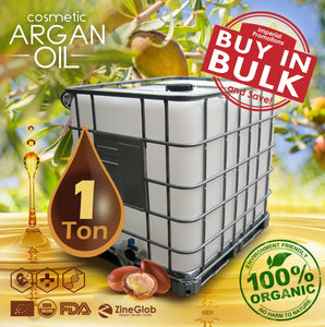 PURE COSMETIC ARGAN OIL BULK  IBC 1 TON DEODORIZED AND NON DEODORIZED IN BULK - 100% CERTIFIED ORGANIC USDA - FDA