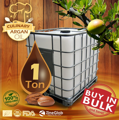 PURE CULINARY ARGAN OIL BULK IBC 1 TON- 100% CERTIFIED ORGANIC USDA - FDA