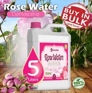 ROSE WATER 5 LITERS -  ZINEGLOB
