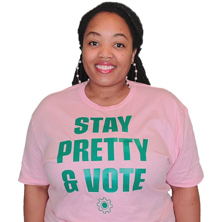 Stay Pretty & Vote (UNISEX FIT T-SHIRT)-T-Shirt-ENJEN DESIGN