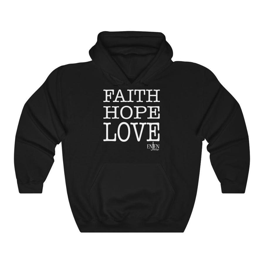 Faith Hope Love (UNISEX HOODIE)-Hoodie-ENJEN DESIGN