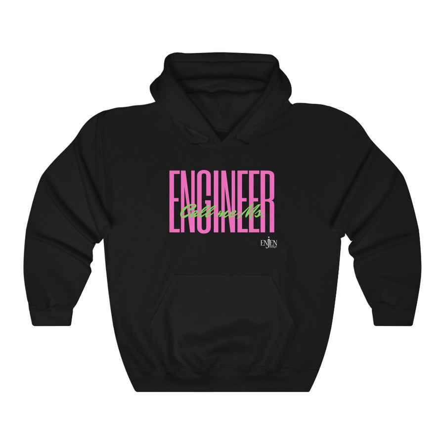 Call Me Ms. Pink & Green Engineer (UNISEX HOODIE)-Hoodie-ENJEN DESIGN