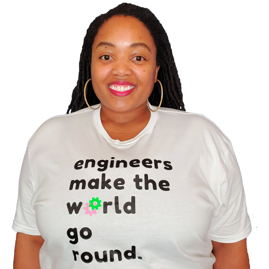 Engineers Make the World Go Round Pink & Green (UNISEX FIT T-SHIRT)-T-Shirt-ENJEN DESIGN