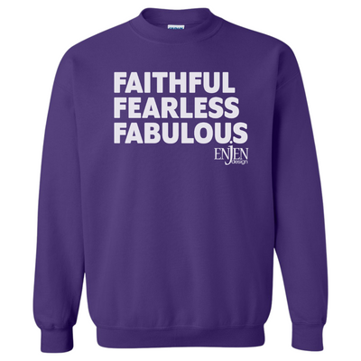 Faithful Fearless Fabulous (UNISEX SWEATSHIRT)-Sweatshirt-ENJEN DESIGN