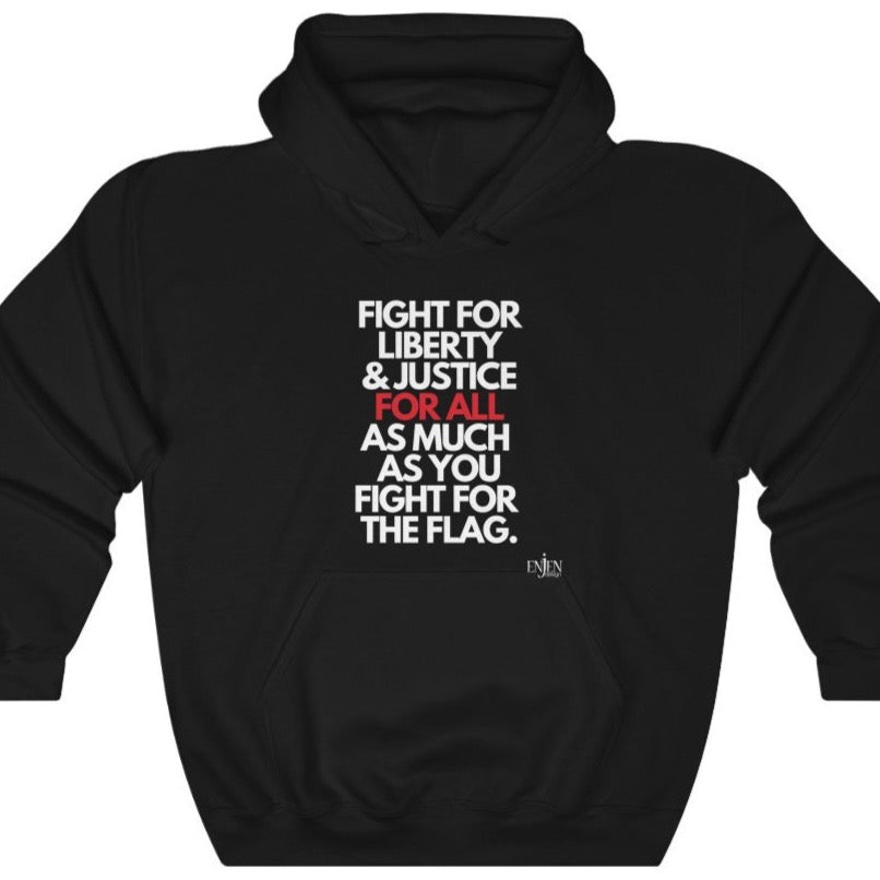 Liberty & Justice for ALL (UNISEX HOODIE)-Hoodie-ENJEN DESIGN