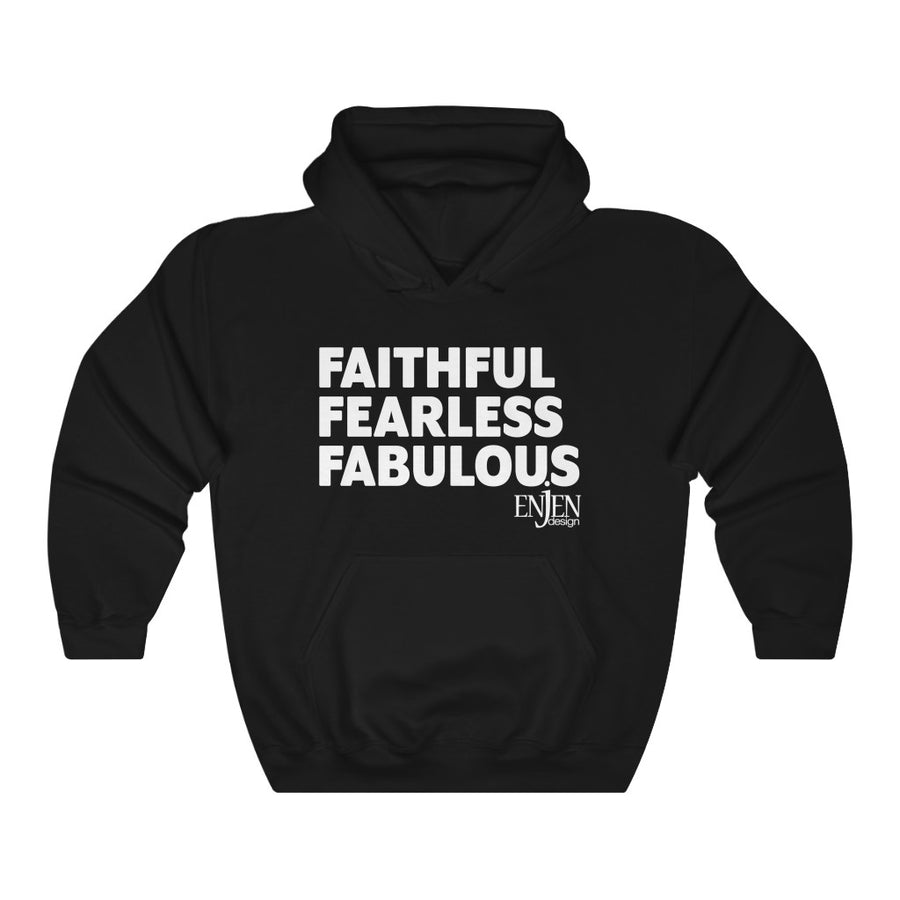 Faithful Fearless Fabulous (UNISEX HOODIE)-Hoodie-ENJEN DESIGN