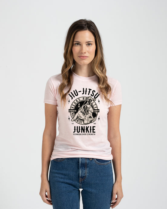 Vegas Royalty Jiu Jitsu Junkie Ladies Fit Tee