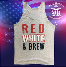 Load image into Gallery viewer, Red White & Brew Tank Top