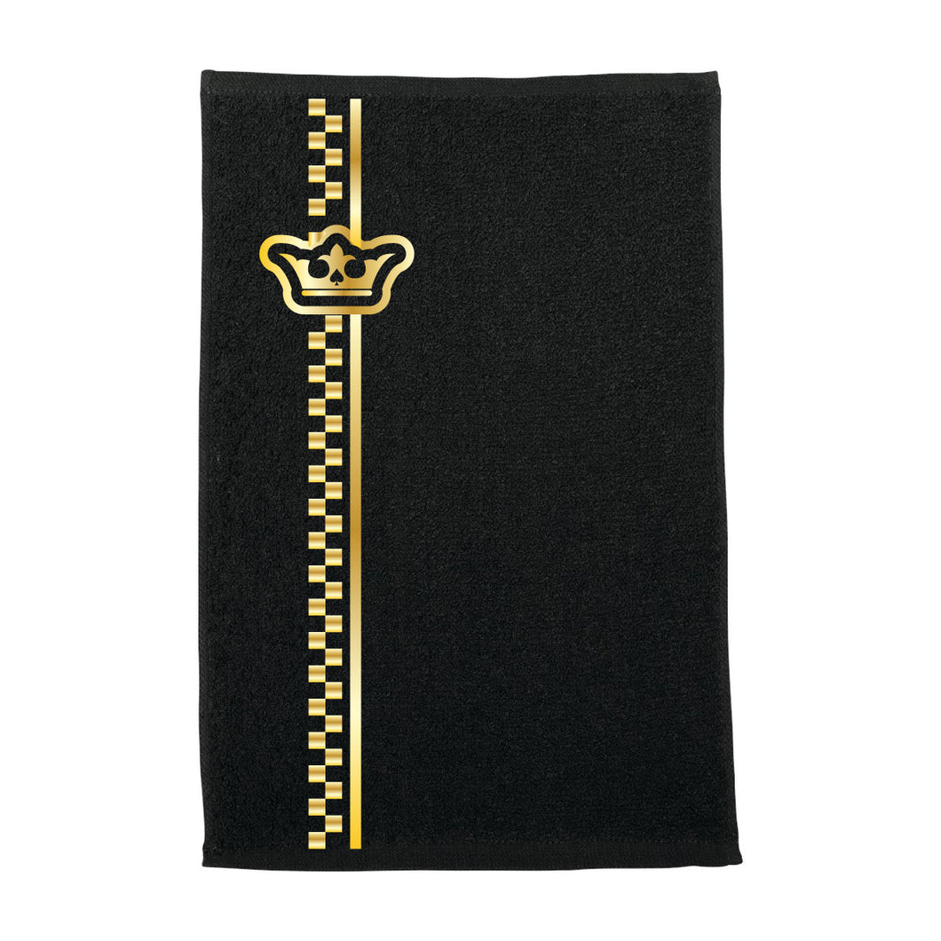 Vegas Royalty Golden Crown Rally Towel