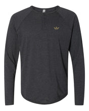 Load image into Gallery viewer, Vegas Royalty Fall 2020 Crown Triblend Long Sleeve Henley