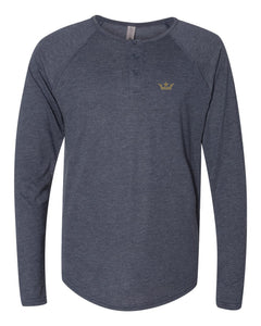 Vegas Royalty Fall 2020 Crown Triblend Long Sleeve Henley