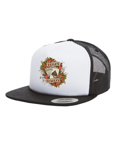 Vegas Royalty Royal Flush Foam Trucker Hat