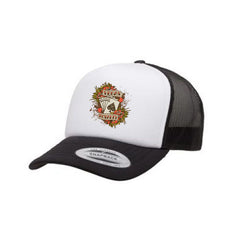 Vegas Royalty Royal Flush Foam Trucker Hat With Curved Visor