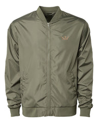 Vegas Royalty Lightweight Bomber Jacket in Army Green