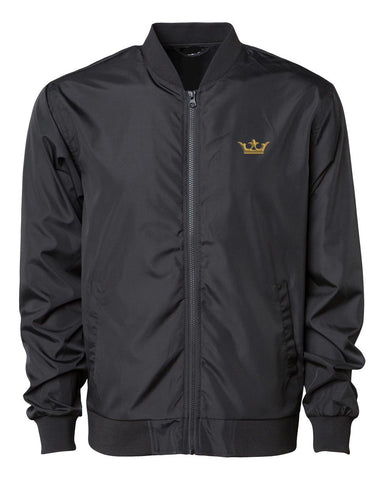 "Vegas Royalty ""The King"" Lightweight Bomber Jacket in Black"