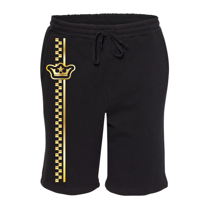 Vegas Royalty Golden Crown Unisex Fleece Shorts