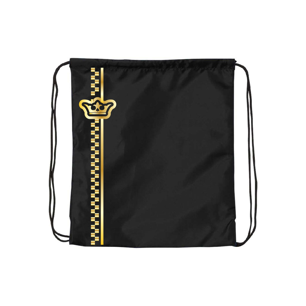 Vegas Royalty Golden Crown Drawstring Backpack