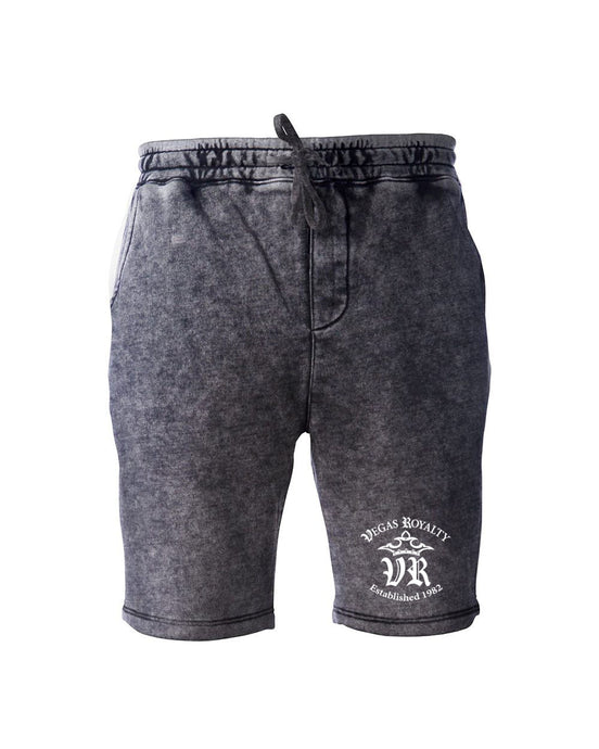 Vegas Royalty OG Logo Mineral Wash Unisex Fleece Shorts