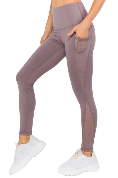 Vegas Royalty Ladies Active Mesh and Waist Pocket Leggings