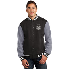 "Vegas Royalty ""Fleur De Keys"" Mens Fleece Letterman Jacket"