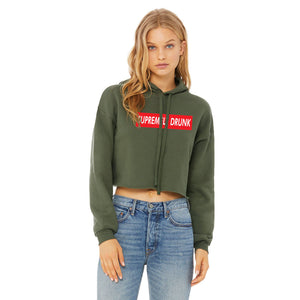 Vegas Royalty Women's SUPREMELY DRUNK Cropped Fleece Hoodie