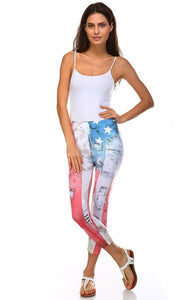 Vegas Royalty Americana Sublimated Leggings