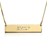 Personalized Bar Name Necklace