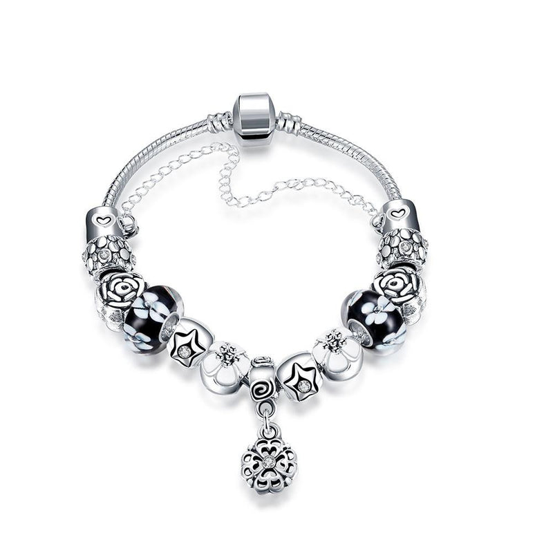London Inspired Classic Pandora Inspired Bracelet Made with Swarovski Elements - Lenox Jewelers Corp.