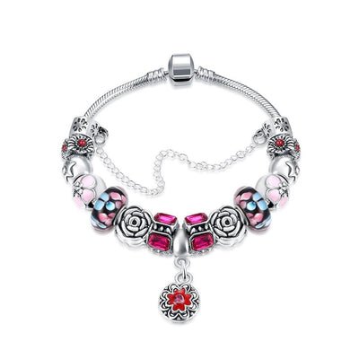 Purple Passion Petite Emblem Pandora Inspired Bracelet Made with Swarovski Elements - Lenox Jewelers Corp.