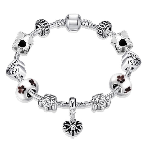 The Best Freinds Pandora Inspired Bracelet Made with Swarovski Elements