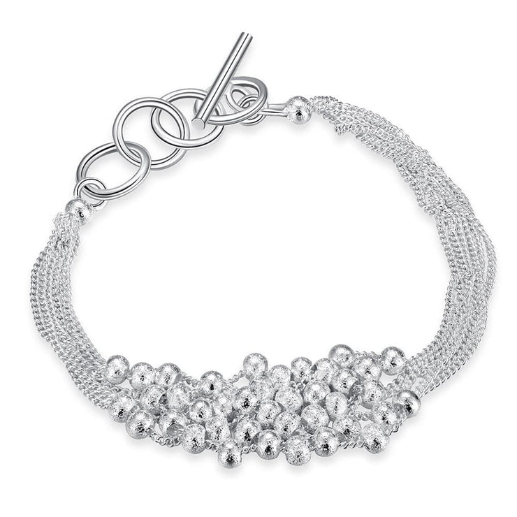 Bubble Pearl Bracelet in 18K White Gold Plated - Lenox Jewelers Corp.
