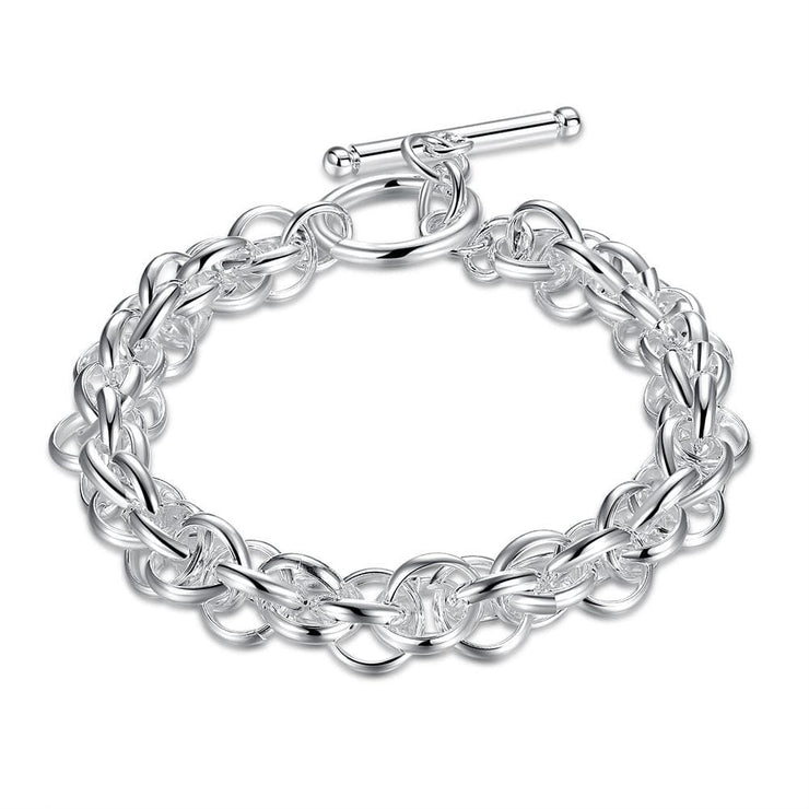 Bracelet in 18K White Gold Plated - Lenox Jewelers Corp.