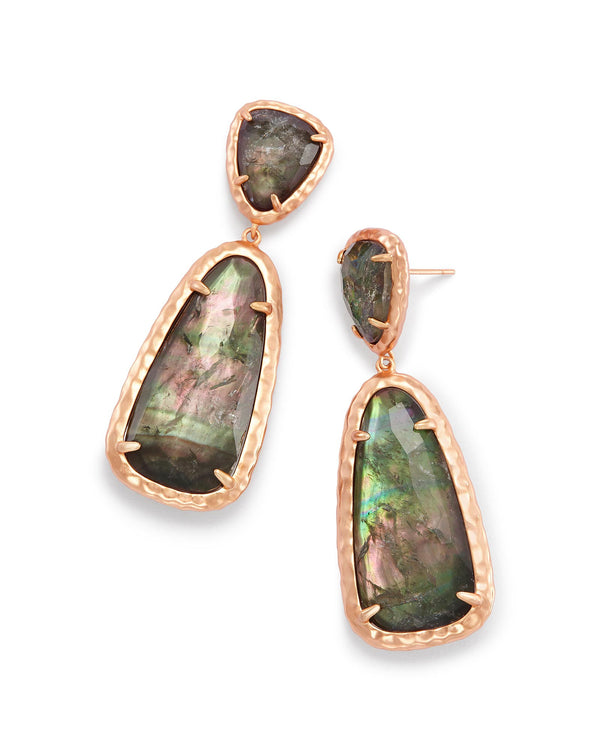 Made with Swarovski Crystal 18K Gold Filled Multi Stone Drop Earrings - Lenox Jewelers Corp.